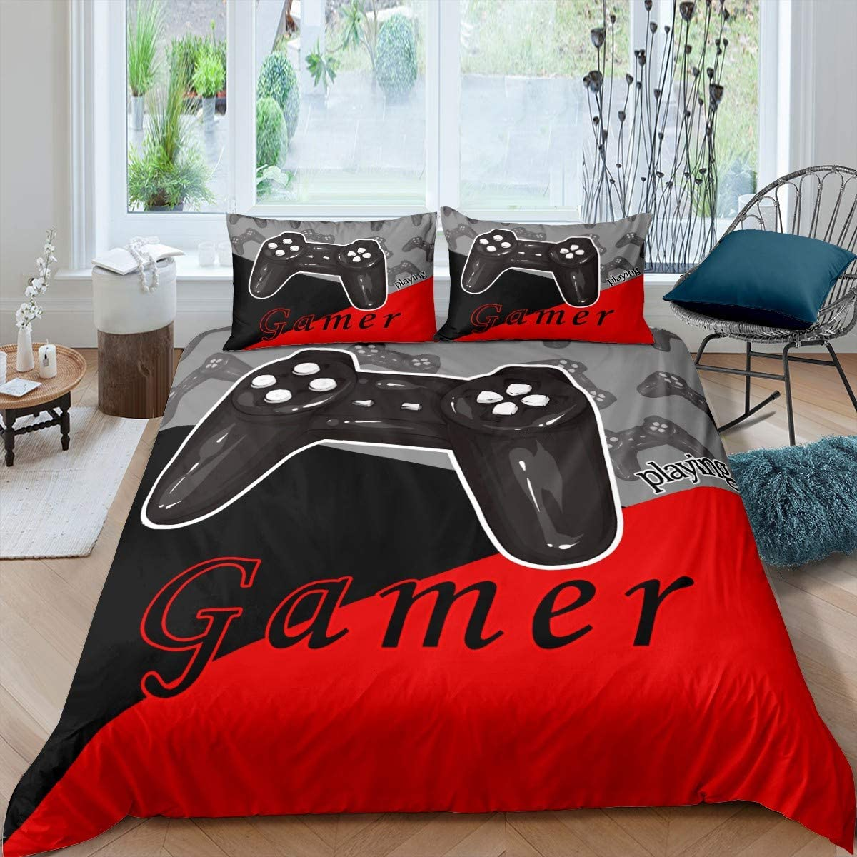 feelyou Gamer Limited time sale Duvet Cover Set All items free shipping for Co Game Boys Bedding Teens