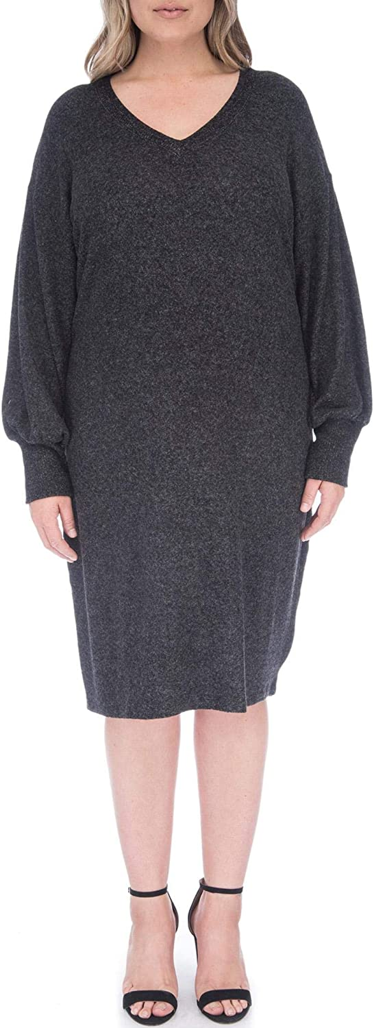 Bobeau Janice Plus V Neck Cozy Dress