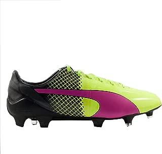 PUMA Mens Evospeed 1.5 Tricks FG Pink Glo/Safety Yellow/Black Soccer Shoes