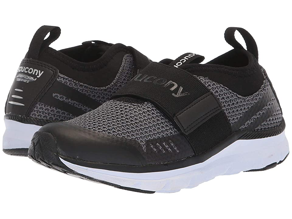 Saucony Kids Liteform Stretch Go A/C (Little Kid) (Black) Boys Shoes