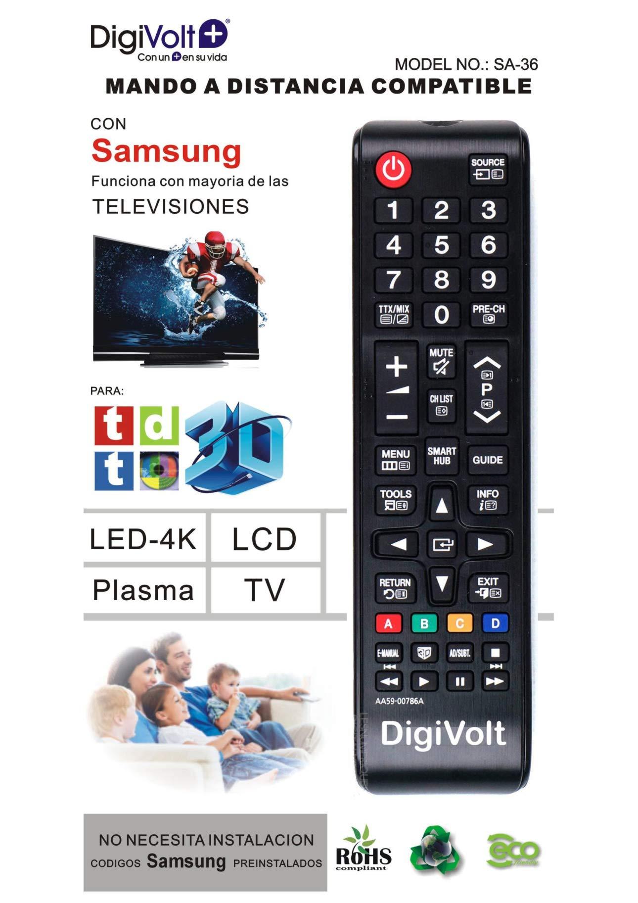 DiggitalWorld Mando Universal para televisores Samsung SA-36: Amazon.es: Electrónica