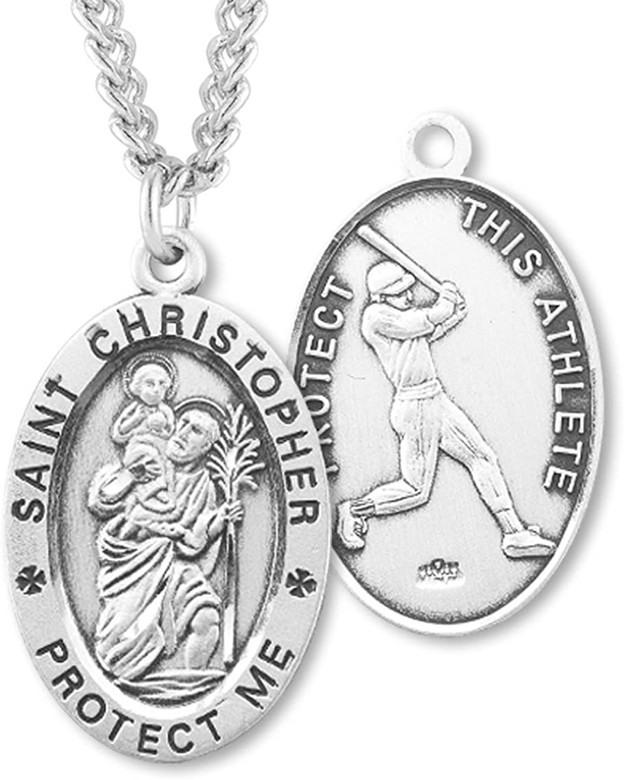 Heartland Men's Sterling Save money Silver Saint Baseball Manufacturer OFFicial shop Oval Christopher