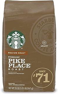 Starbucks Medium Roast Ground Coffee — Pike Place Roast — 100% Arabica — 1 bag (20 oz.)