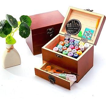 Holz sammlung Kit de Costura con Más de 70 Piezas Accesorios de Costura Premium con Funda
