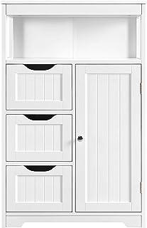 Home Furnishing Plaza 11.8 x 11.8 x 47.2 Pattern Carved Bathroom Corner Shelf Floor Cabinet Multifunctional Bathroom Storage Organizer Rack Stand