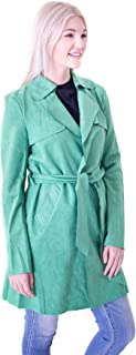 Solitaire Faux Suede Trench Coat Jacket