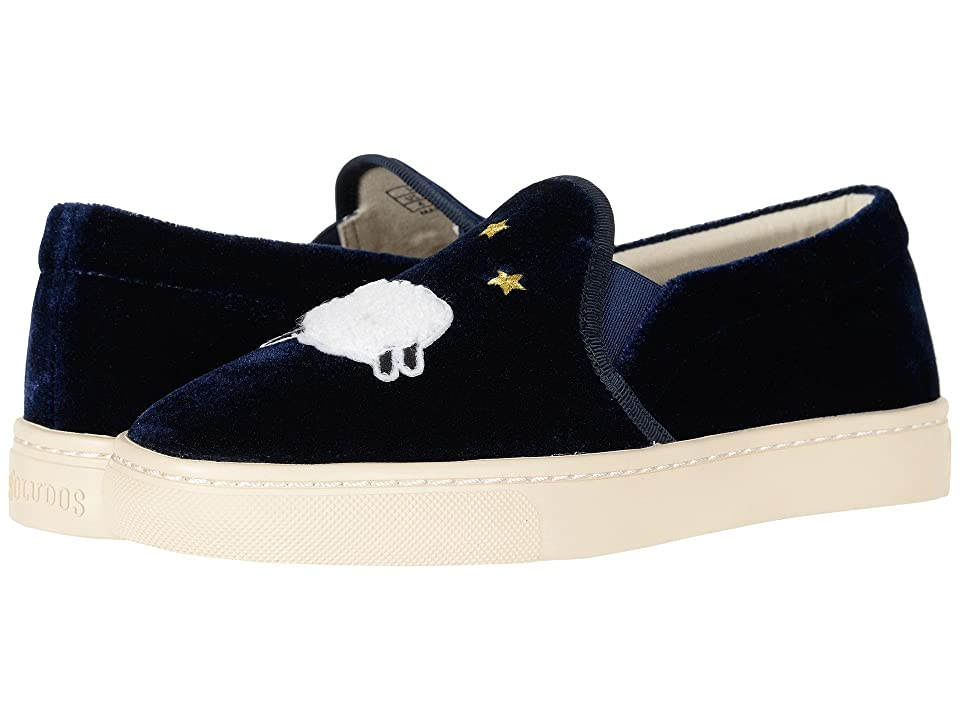 Soludos Velvet Sheep Sneaker (Midnight Blue) Women