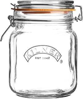 Kilner Clip Top Square Jar 34 Fl Oz
