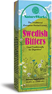 NatureWorks Swedish Bitters Traditional European Herbal Extract Used for Digestion, 33.8 fl. oz.