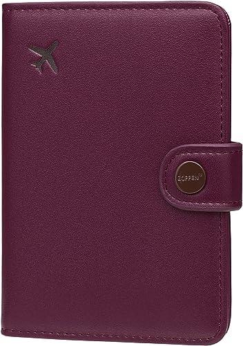 Super Nice Christmas Bells Leather Passport Holder Cover Case Blocking Travel Wallet