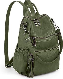 UTO Mädchen Schultasche Damen 3 Möglichkeiten Rucksack Anti Diebstahl Zurück Reißverschluss Design Elastische Seitentasche...