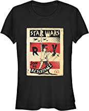 Star Wars The Last Jedi Juniors' Rey Join Resistance Poster T-Shirt