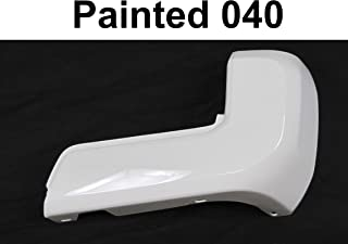 Painted 040 Super White Rear Bumper End W/O Sensor Hole RH For For TOYOTA TACOMA 2016-2019 TO1105133