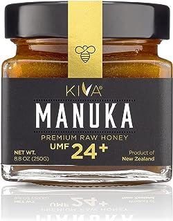 Kiva Raw Manuka Honey, Certified UMF 24+ | MGO 1122+ | 100% Pure Genuine New Zealand (8.8oz/250g Bottle) | Non-GMO | No An...