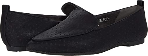 Black Perforated V Leather