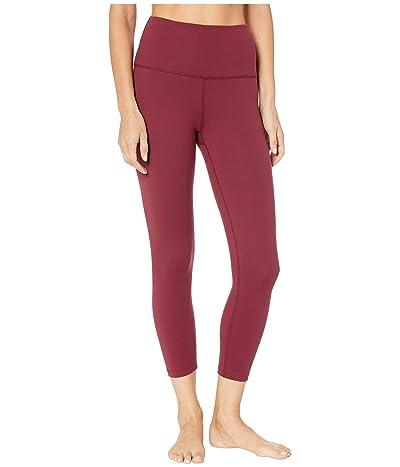 Beyond Yoga High Waist Capri Leggings (Team Burgundy) Women