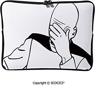 SCOCICI Sleeve Tablet Protective Bag Captain Picard Face Palm Troll Guy Meme Caption Super Fun Online Custom Tablet Sleeve Bag Case 11.6 inch/12 inch