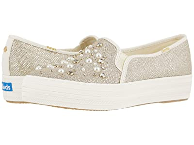 Keds x kate spade new york Bridal Triple Decker (Gold Soft Lurex/Crystals) Women