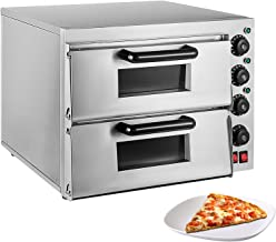 ALDKitchen Pizza Oven   Pizza Maker   Separately Controlled Thermostats   Stainless Steel   110V (DOUBLE)