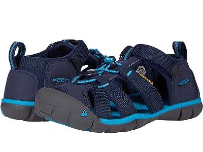 KEEN Kids Seacamp II CNX (Little Kid/Big Kid) (Black Iris/Vivid Blue) Boys Shoes
