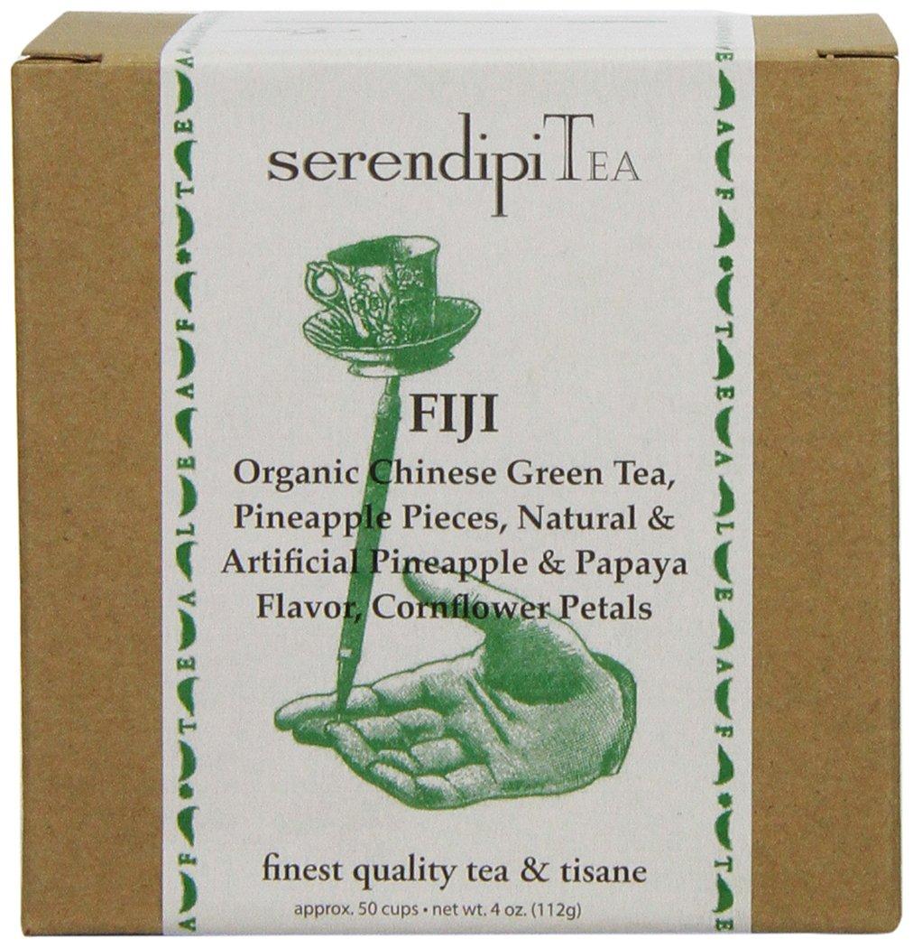 SerendipiTea Gorgeous Fiji China Green OFFicial Tea Papaya Cornflower Pineapple