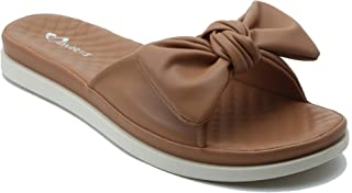 Shuberry SB-19076 Latest Footwear Collection, Comfortable & Fashionable Faux Leather in Beige, Black & Tan Colour Sandal for Women & Girls