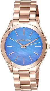 Michael Kors Women's Slim Runway Rose Gold Watch Mk3494, Analog Display