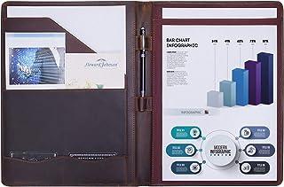 Jack&Chris Leather Portfolio, A4 Document Folder Legal Pad Padfolio, Professional Writing Letter Notepad Clipboard Sleeve ...