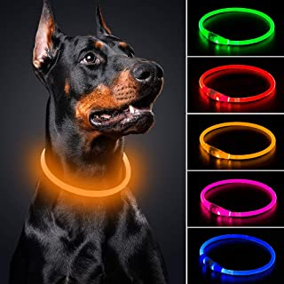 BSEEN LED Dog Collar Rechargeable 70cm