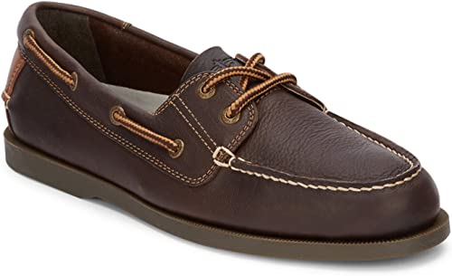 Dockers Men's Vargas Leather Handsewn Boat zapatos, Chocolate - 8 D(M) US
