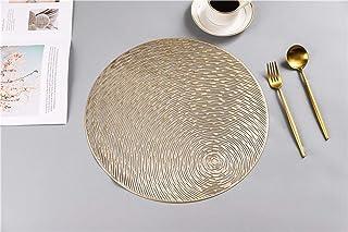Blanc Mariclo Set de Table Rond en Coton Motif Maison de Campagne Style Shabby Chic 40 cm