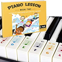 Piano Lessons Book2 and Color Coded Note Stickers: Piano Music Lesson and Guide Book for Kids and Beginners; Designed and ...