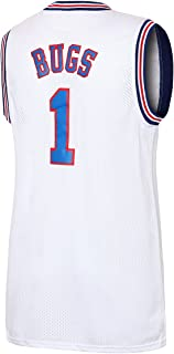 JOLI SPORT Bugs 1 Space Men's Movie Jersey Men's Basketball Jersey S-XXXL White/Black S-XXXL