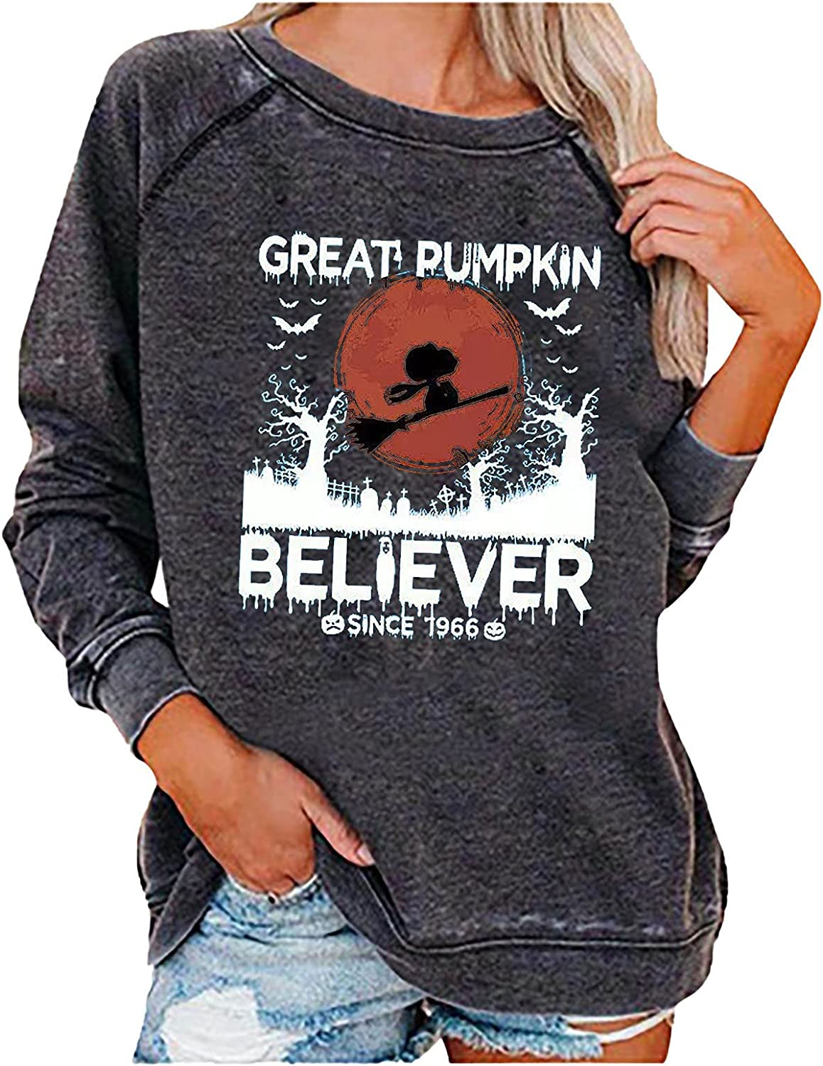 New product!! Plus Size Halloween Costumes Fall High material Funny for Sweatshirts Women Gr