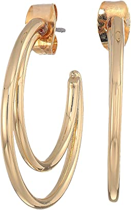Small Double C Hoop Earrings