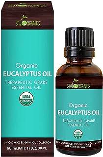 Aceite esencial de Eucalipto Sky Organics   De grado terapéutico   100% Puro para difusor, aromaterapia, aceite de masaje,...