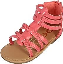 bebe Girls Gladiator Sandals with Glitter Braided Straps (Toddler)