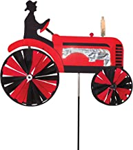 red tractor wind spinner