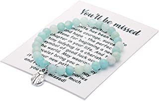Going Away Gift for Friend Moving Goodbye Bracelet With Meaningful Message Handmade Gifts for Best Friend Leaving Jewelry