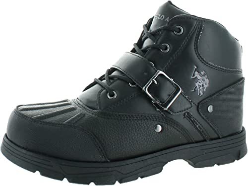 U.S. Polo Assn. Kedge Hommes's Buckle Duck Toe bottes noir Taille 10.5