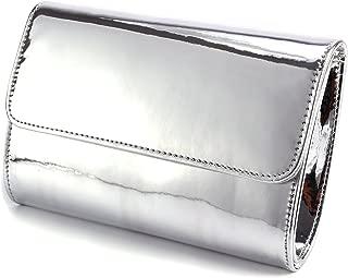 Fraulein38 Designer Mirror Metallic Women Clutch Patent Evening Bag