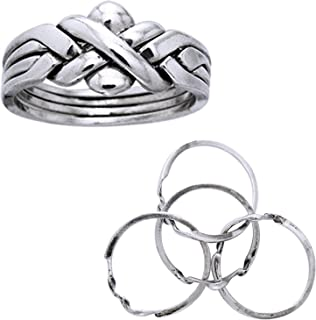 5 band puzzle ring