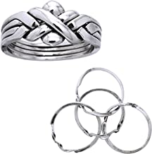 Best silver puzzle rings Reviews