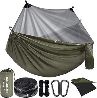Overmont Hamac de Camping avec moustiquaire hamac de randonnée à Double Couche avec Filet Anti-Insectes Portable léger pou...