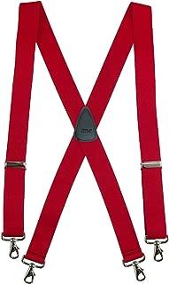 CTM Men's Elastic Solid Color X-Back Suspender with Swivel Hook Ends