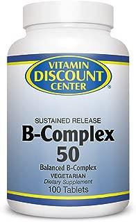 Vitamin Discount Center B-Complex 50mg, 100 Tablets