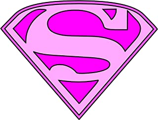 Supergirl Sheild Logo Iron On Transfer for T-Shirts & Other Light Color Fabrics #2 Divine Bovinity