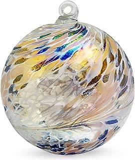 Friendship Ball Tabby 4 Inch Kugel Iridized Witch Ball by Iron Art Glass Designs