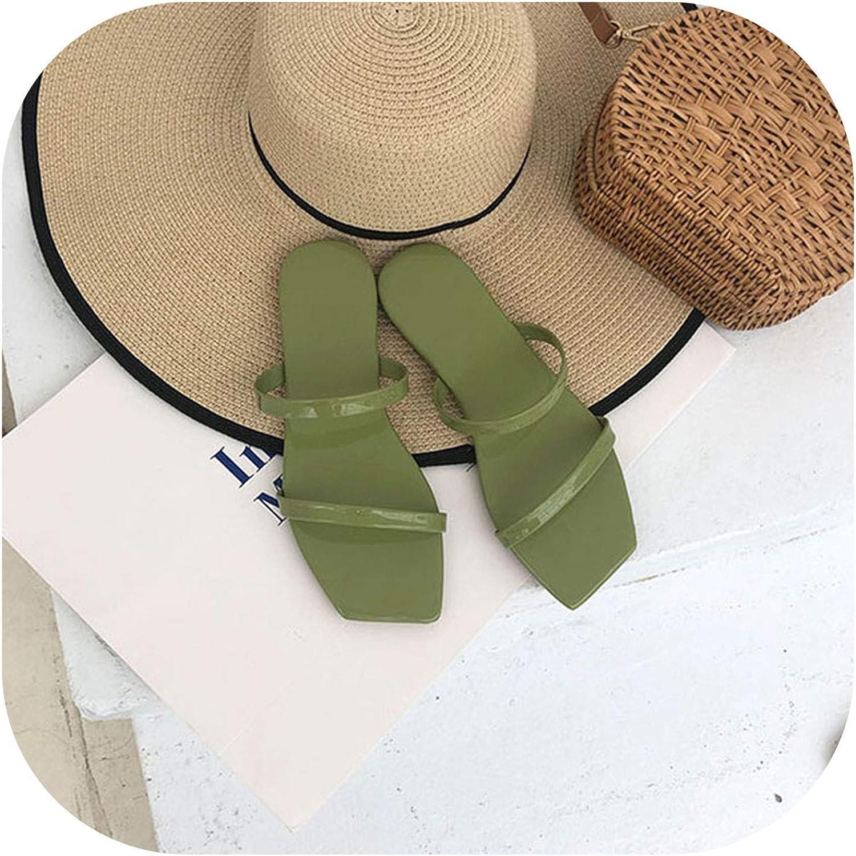JIESENGTOO Slipper Sandals Women Solid Flat Sandals Women Summer Beach Slip on