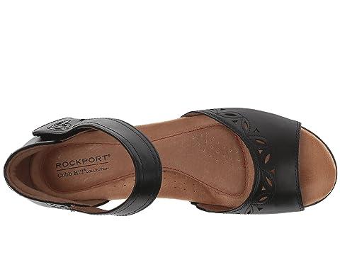 De Abbott Rockport Leathertan Piezas Cobb Tobillo Negro De Dos Correa Colina De Colección Cuero Leatheryellow qwAHpwt0
